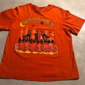Woman's Happy Halloween Tee Shirt with cats